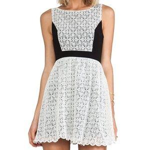 LADAKH BLACK AND LACY DRESS NWT